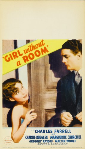 GIRL WITHOUT A ROOM 1933 Charles Farrell
