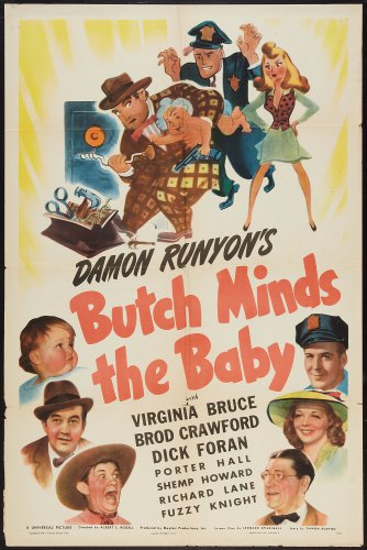 BUTCH MINDS THE BABY 1942 Virginia Bruce