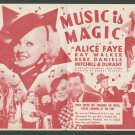 MUSIC IS MAGIC 1935 Alice Faye