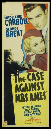 CASE AGAINST MRS. AMES 1936 Madeleine Carroll