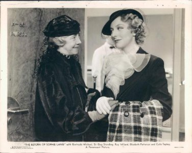 RETURN OF SOPHIE LANG 1936 Gertrude Michael