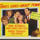 THREE GIRLS ABOUT TOWN 1941 Joan Blondell