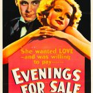 EVENINGS FOR SALE 1932 Charles Ruggles