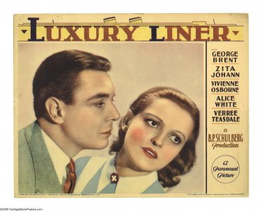 LUXURY LINER 1933 George Brent