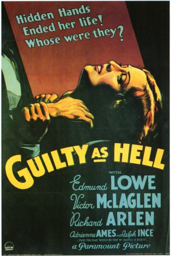 GUILTY AS HELL 1932 Edmund Lowe