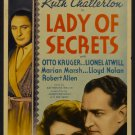 LADY OF SECRETS 1936 Ruth Chatterton