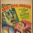 GREAT HOTEL MURDER 1935 Edmund Lowe