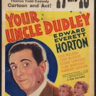 YOUR UNCLE DUDLEY 1935 Edward Everett Horton