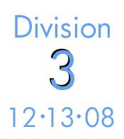 Division 3: 12-13-08