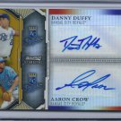 2011 Bowman Sterling Dual Autographs Gold Refractors #DC Danny Duffy/Aaron Crow
