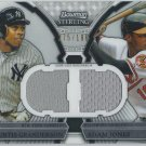 2011 Bowman Sterling Dual Relics #GJ Curtis Granderson/Adam Jones #175/196