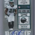 2010 Playoff Contenders #174 Nate Allen Autograph Rookie Ticket