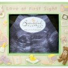 Hand-painted Beautiful Beginnings 'Love at First Sight' Ceramic Ultrasound Baby Photo Picture Frame