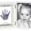 &#39;Our Grandchild&#39; Sweet Somethings Handprint White Wood Photo Picture Frame