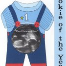 'Rookie of the Year!' Magnetic Ultrasound Greeting Picture Frame with Clear Acrylic Stand