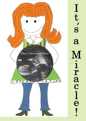 'It's A Miracle!' Magnetic Ultrasound Greeting Picture Frame with Clear Acrylic Stand