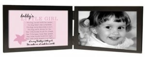 Daddy's Little Girl Black Wood Photo Picture Frame with Poem