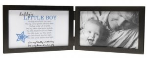 Daddy's Little Boy Black Wood Photo Picture Frame with Poem