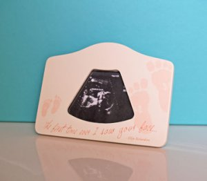 First Time I Saw your Face Pink Baby Girl 2D Ultrasound Picture Frame
