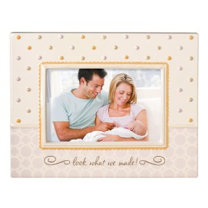 'Look What We Made' Baby It's You Stoneware Photo Picture Frame