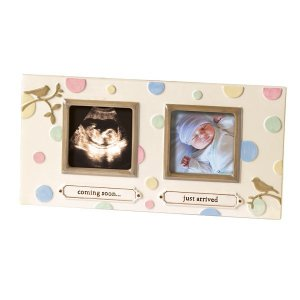 Sonogram Dot Dot Dot Stoneware Ultrasound & Baby Photo Picture Frame