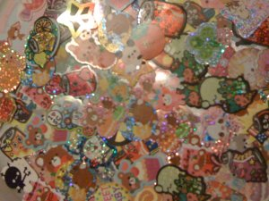 Kawaii Memo and Sticker Flakes Package~150~FREE SHIPPING