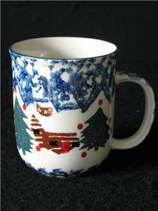 Tienshan Folk Craft China Cabin in the Snow Coffee Mug
