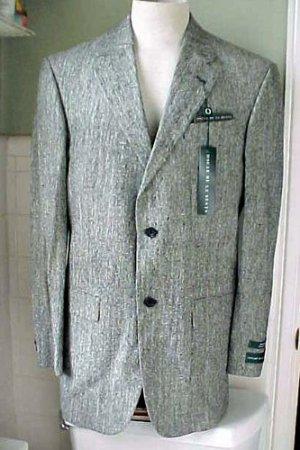 Gorgeous Oscar De La Renta 2 Button Sport Coat Jacket 100 % Silk New 40L - L@@K