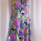 New* Morrell Maxie Mod Floral Halter Dress Size 10 $230