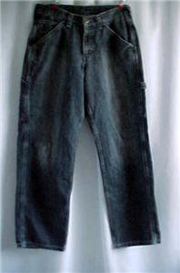Vintage Loose Fit LEE Carpenter Jeans Dungarees - 29/30