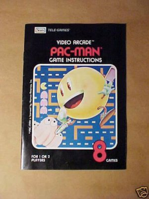 ATARI/SEARS PAC-MAN Game Instructions - 1981 - MINT!!