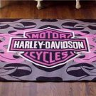 Vintage Harley Davidson Motorcycles Rug American Motorcycle Floor Mat