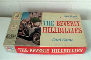 The Beverly Hillbillies Set Back Card Game Milton Bradley 1963 #4332 Filmways TV