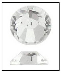 CRYSTAL CLEAR Swarovski NEW 2058 Flatback Rhinestones 1440 Factory Pkg 1.8mm 5ss