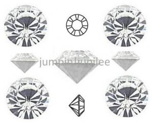 pp24 Crystal Clear Swarovski 1028 Chaton Pointed Back Rhinestones 36 pc 12ss 3mm