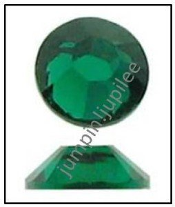 EMERALD Green Swarovski 2028 Crystal Flatback Rhinestones 12 pieces 5mm 20ss