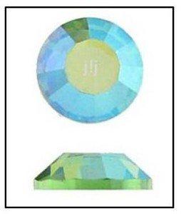 PERIDOT AB Green Swarovski Crystal Flatback Rhinestones 12 pieces 5mm 20ss