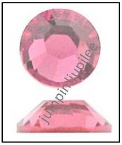ROSE Pink Swarovski Crystal Flatback NEW 2058 Rhinestones 72 pieces 5mm 20ss