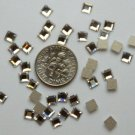 SQUARE Crystal Clear Swarovski Flatback 2400 Rhinestones 72 pieces 4mm