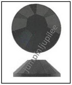 JET BLACK Swarovski Flatback Crystal 2028 Rhinestones 36 pieces 5mm 20ss