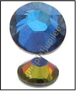 MERIDIAN BLUE Swarovski Crystal 2058 Flatback Rhinestones 12 pieces 5mm 20ss