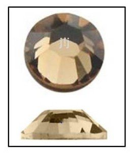 LIGHT COLORADO TOPAZ Swarovski Flatback 2028 Rhinestones 144 pieces 2.5mm 9ss