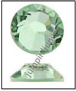 CHRYSOLITE Green Swarovski Flatback 2028 Crystal Rhinestones 144 pcs 2mm 7ss