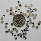 SQUARE Crystal Clear Swarovski Flatback 2400 Rhinestones 12 pieces 3mm