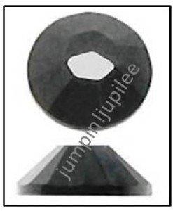 COSMO JET BLACK Swarovski Crystal Flatback 2028 Rhinestones 144 pieces 1.8mm 5ss