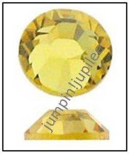 LIGHT TOPAZ Yellow Swarovski 2058 Crystal Flatback Rhinestones 12 pcs 5mm 20ss