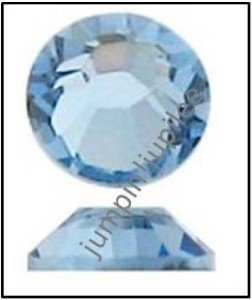 LIGHT SAPPHIRE Blue Swarovski Crystal Flatback 2028 Rhinestones 144 pc 2mm 7ss