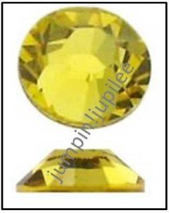CITRINE Yellow Swarovski NEW 2058 Crystal Flatback Rhinestones 144 pcs 3mm 12ss
