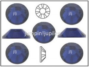 DARK INDIGO Blue Swarovski Crystal Flatback 2028 Rhinestones 144 pieces 2mm 7ss