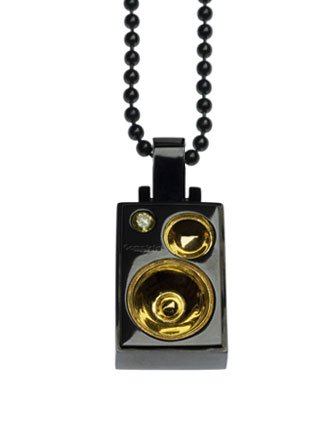Complete Technique Studded Black and Gold Right Speaker